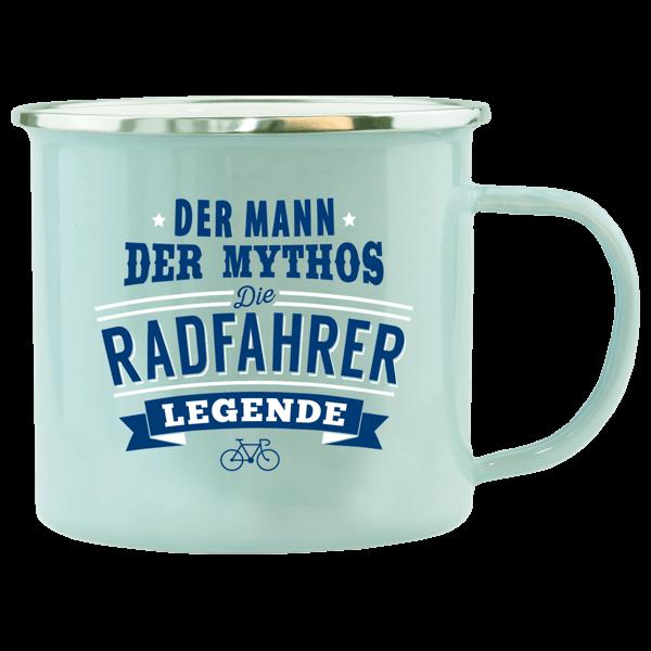 """Emaille-Becher """"Radfahrer"""""""
