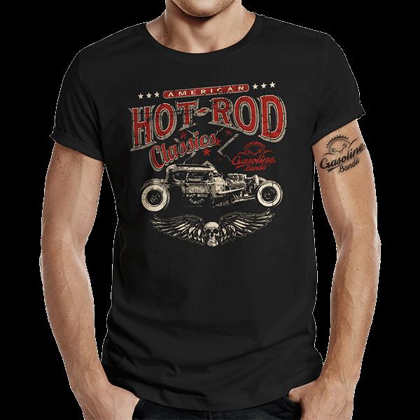 """T-Shirt """"American Hot Rod"""" von Gasoline Bandit"""