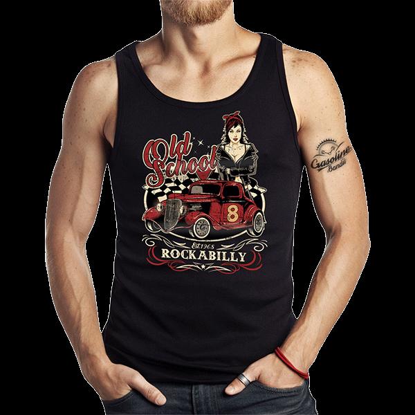 """Tank Top """"Old School Rockabilly"""" von Gasoline Bandit"""