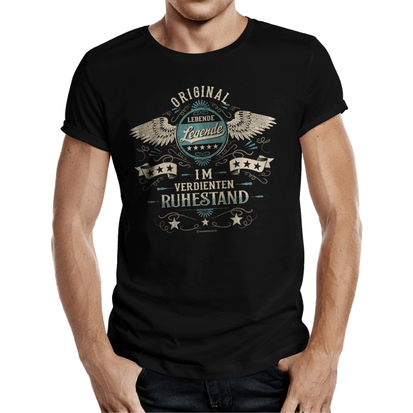 "T-Shirt ""Lebende Legende im Ruhestand"""
