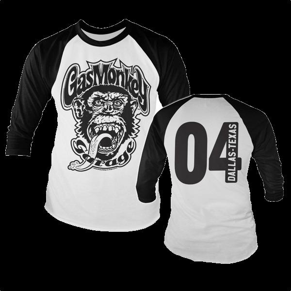 "Gas Monkey Garage Baseballshirt ""Dallas 04"""