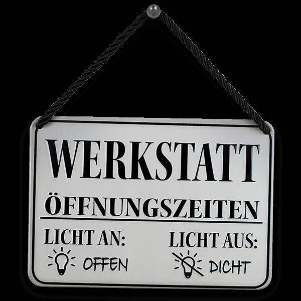 """Hängeschild """"Werkstatt"""""""