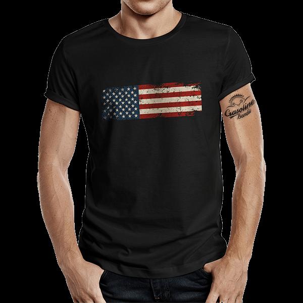 """T-Shirt """"US Flag"""" von Gasoline Bandit"""