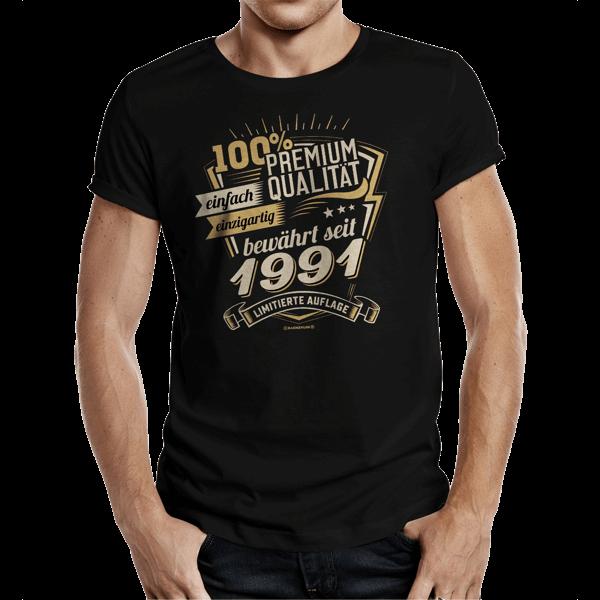 """T-Shirt """"Premium Qualität seit 1991"""""""