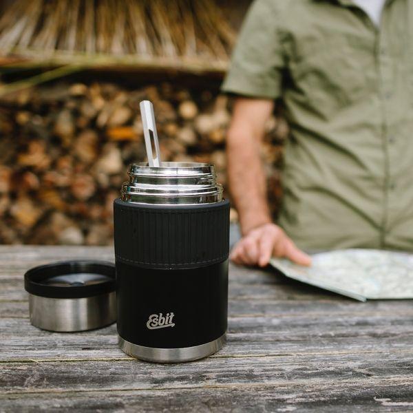 Doppelwandiger Thermobehälter aus Edelstahl (1 Liter)