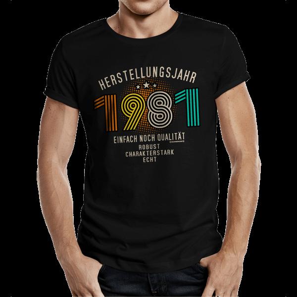 """T-Shirt """"Herstellungsjahr 1981"""""""