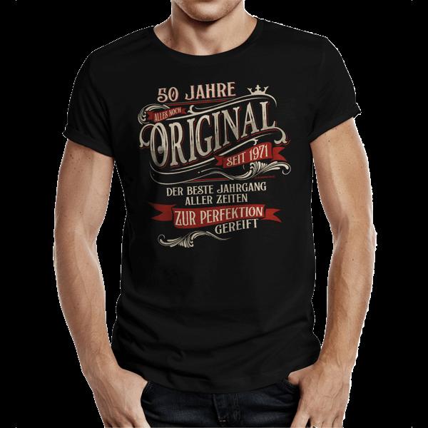 "T-Shirt ""Perfektion seit 1971"""