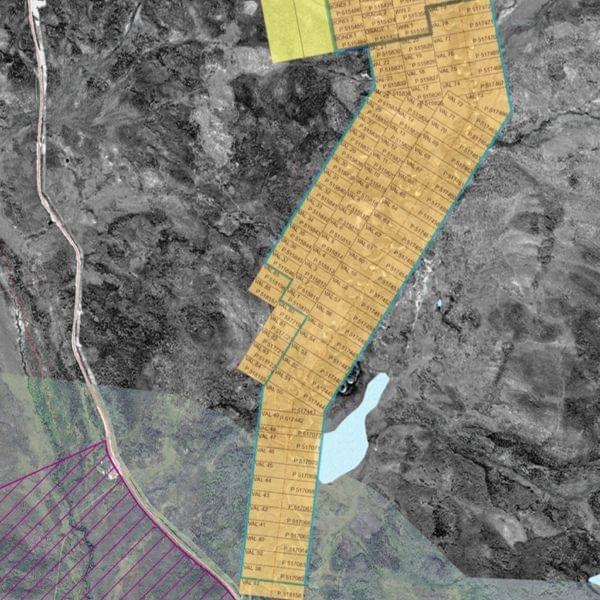 Klondike-Goldmine (87 Claims auf 570 ha) mit Abbauerlaubnis