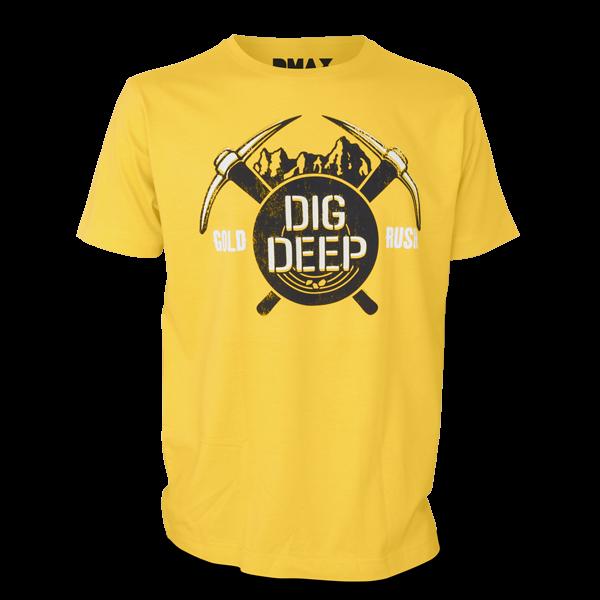 "Gold Rush T-Shirt ""Dig Deep"""