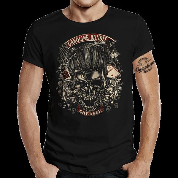 """T-Shirt """"Gas Greaser"""" von Gasoline Bandit"""